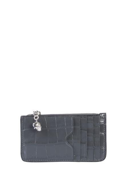 Alexander Mcqueen - Zipper Leather Card Holder