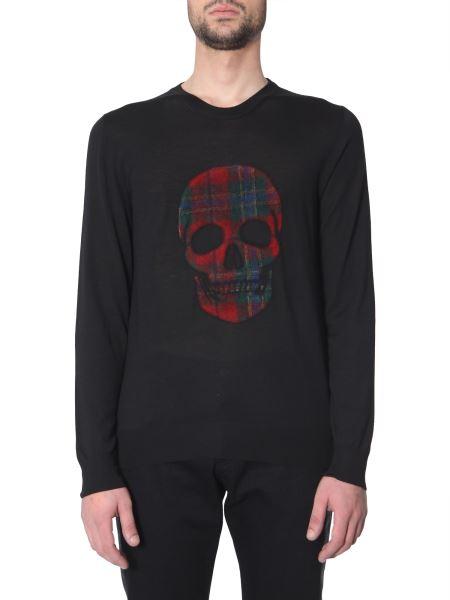 Alexander Mcqueen - Tartan Skull Crew Neck Woolen Pullover