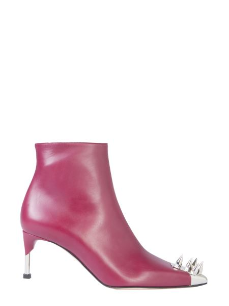 Alexander Mcqueen - Leather Boot With Punk Studs