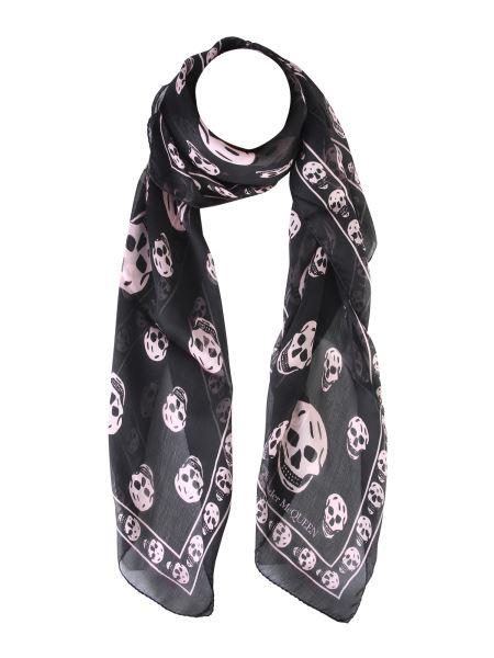 Alexander Mcqueen - Classic Skull Chiffon Silk Scarf