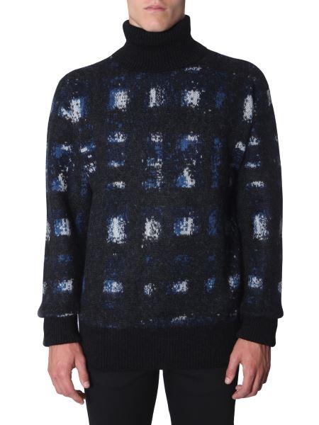 Alexander Mcqueen - Oversize Fit High Neck Wool Collar Sweater