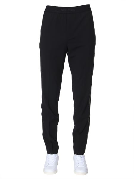 Helmut Lang - Stretch Wool Pants With Side Stripes