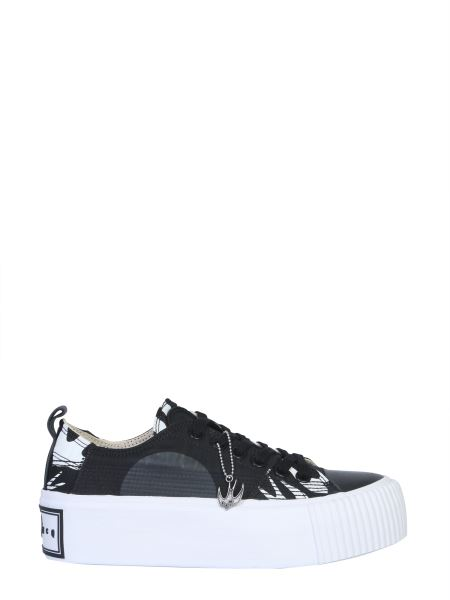 Mcq Alexander Mcqueen - Swallows Platform Leather Sneakers