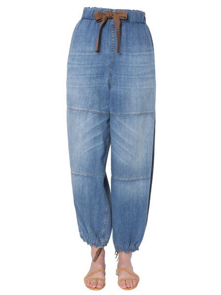 Brunello Cucinelli - Wide Jeans With Elastic Waist