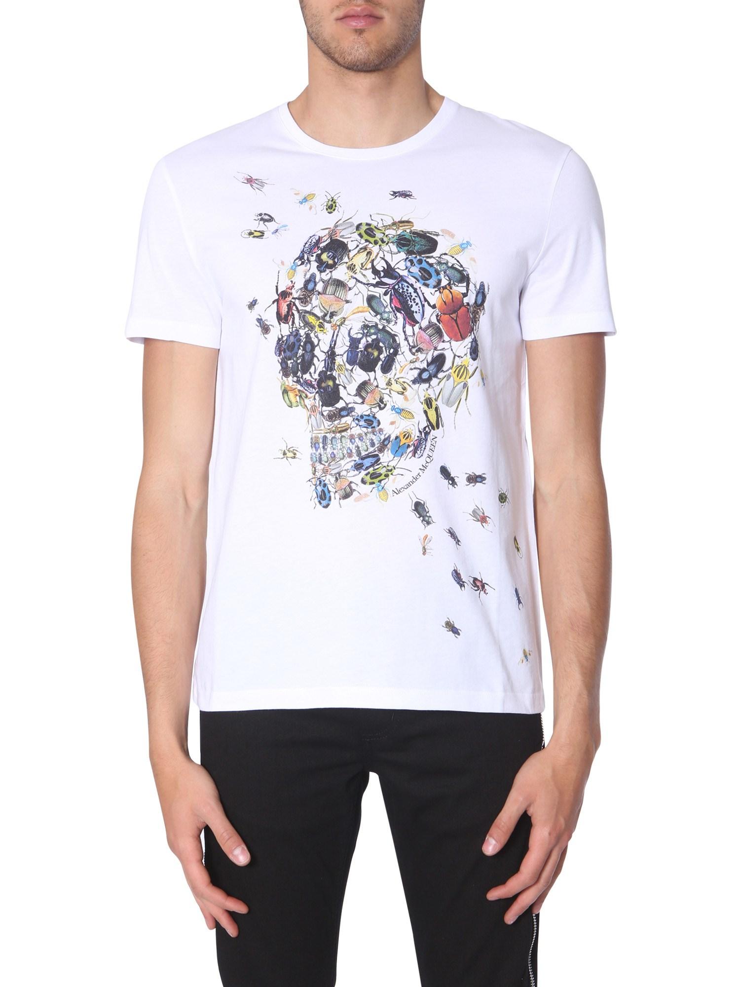 7ff34ba9 Alexander Mcqueen Skull Beetle Print T-Shirt In White | ModeSens
