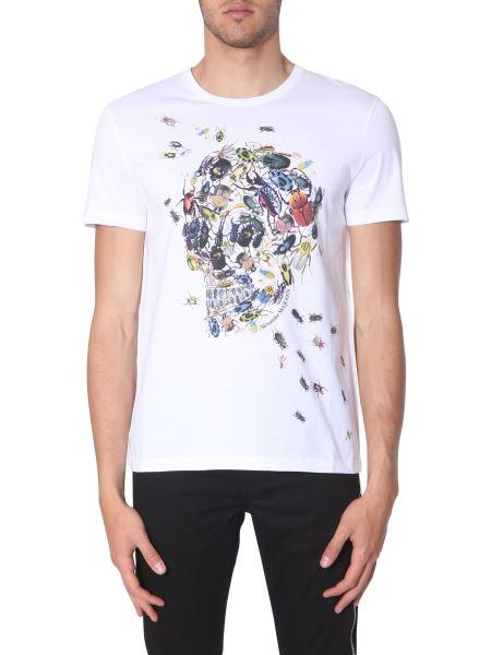 Alexander Mcqueen - Cotton T-shirt With Skull Beetle Print