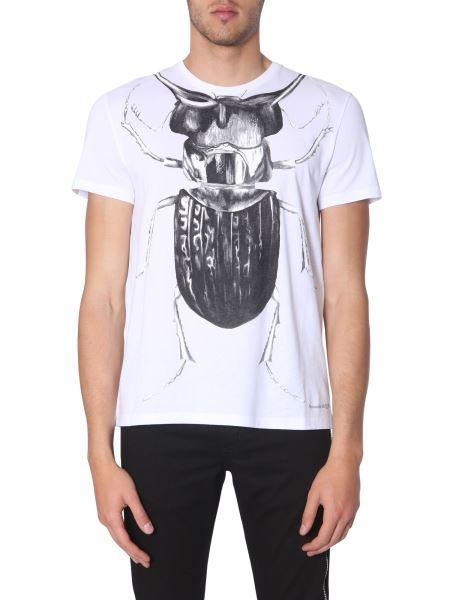 Alexander Mcqueen - T-shirt Con Stampa Beetle
