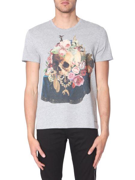 Alexander Mcqueen - Skull Still Life Mix Print Cotton T-shirt