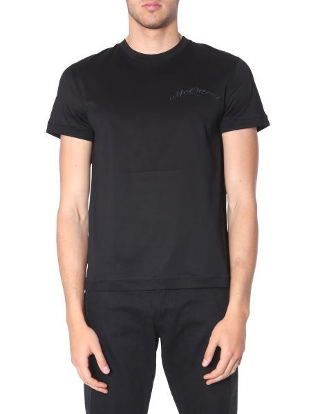 Alexander Mcqueen - T-shirt Con Ricamo Logo