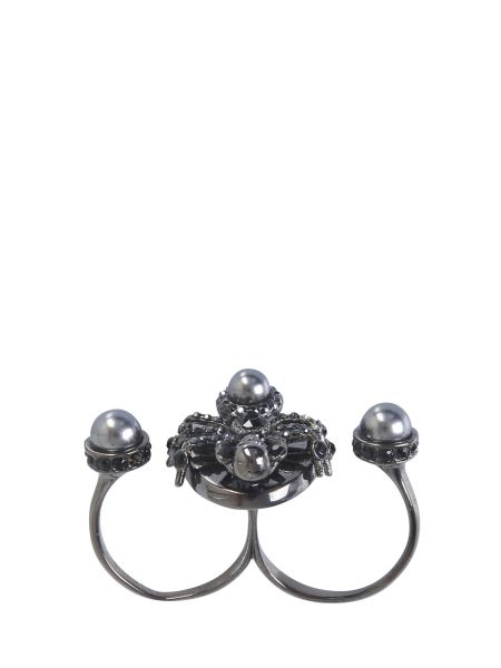 Alexander Mcqueen - Double Spider Brass Ring