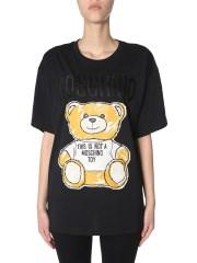 MOSCHINO - T-SHIRT CON BRUSHSTROKE TEDDY BEAR