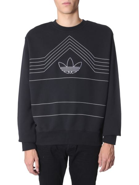 "Adidas Originals - ""rivalry"" Round Neck Cotton Sweatshirt"