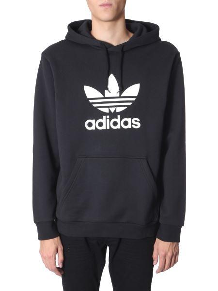 "Adidas Originals - ""trefoil"" Hooded Cotton Sweatshirt"