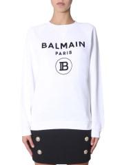 BALMAIN - FELPA GIROCOLLO