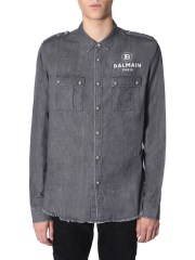 BALMAIN - CAMICIA IN DENIM