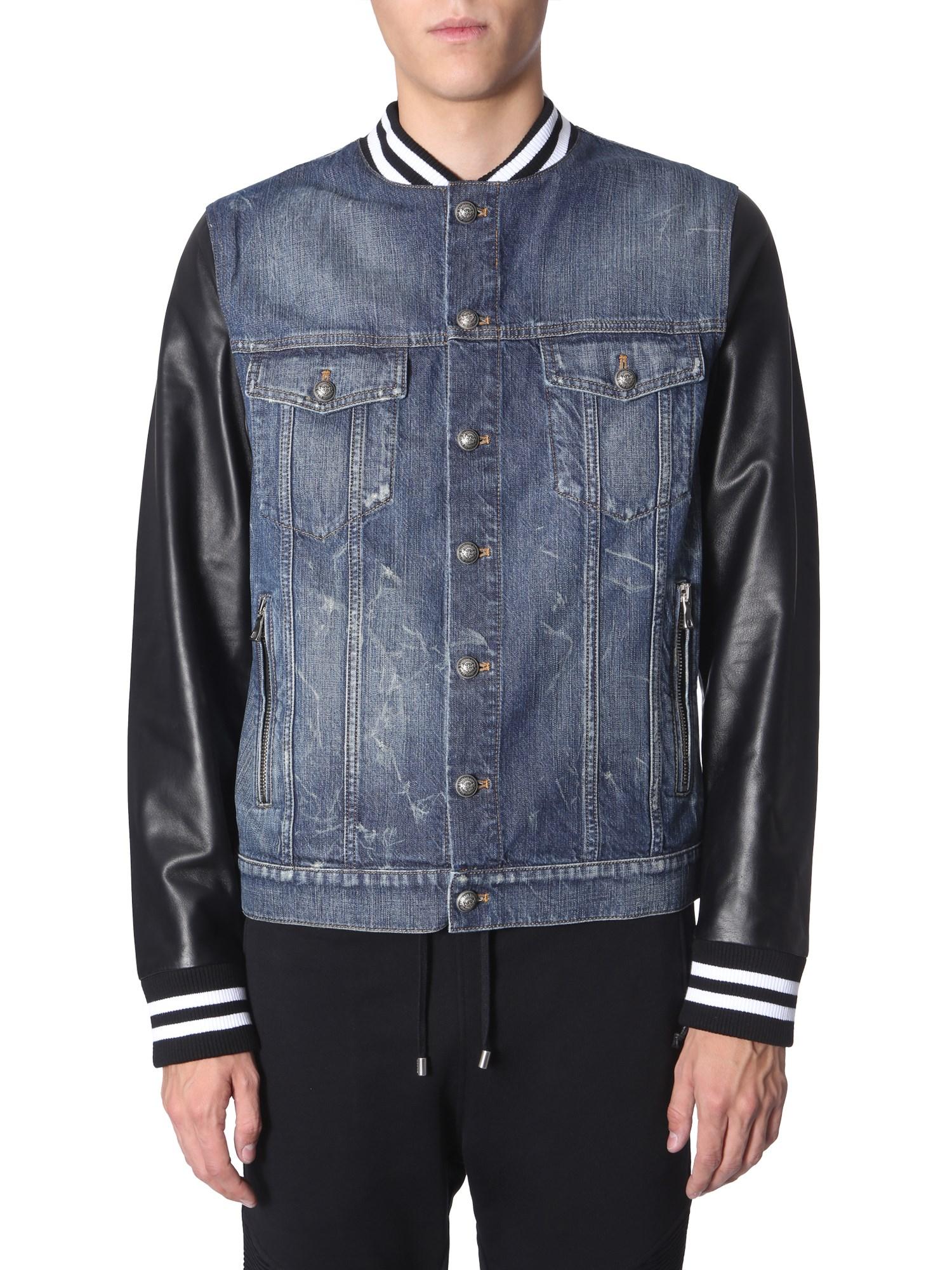 Balmain Regular Fit Jacket In Denim