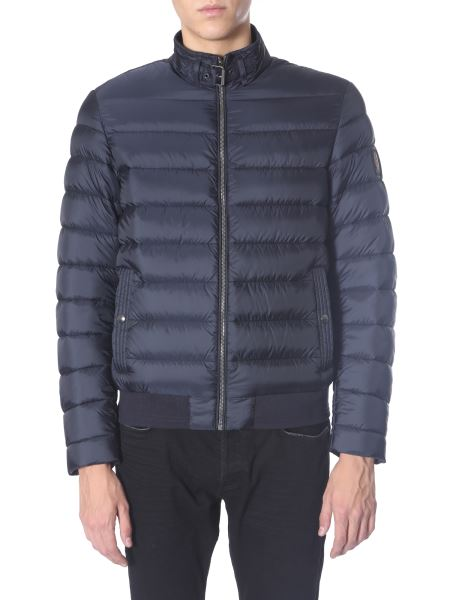 """Belstaff - """"circuit"""" Down Jacket With Logo Patch"""