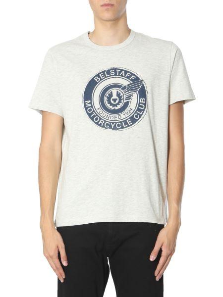 Belstaff - T-shirt Motorcycle Club In Cotone Con Logo