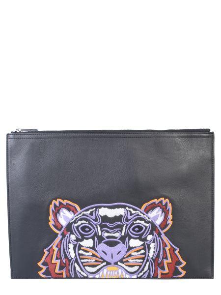 Kenzo - Clutch A4 Con Tigre Ricamata
