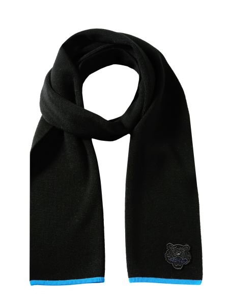 Kenzo - Wool Scarf With Tiger Patch