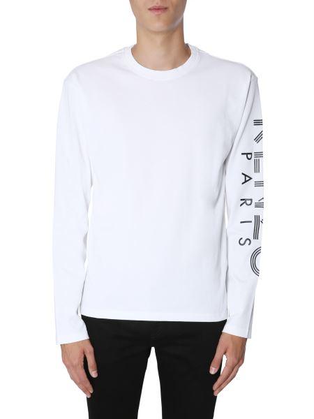 Kenzo - Long Sleeve T-shirt With Printed Logo