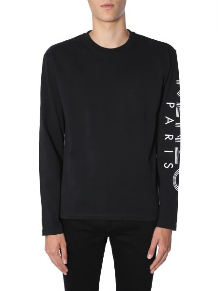 Kenzo - Long Sleeve T-shirt With Printed Logo