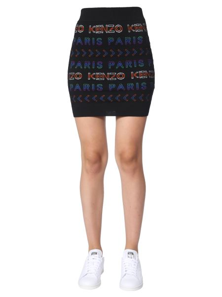 Kenzo - Knitted Mini Skirt With Logo