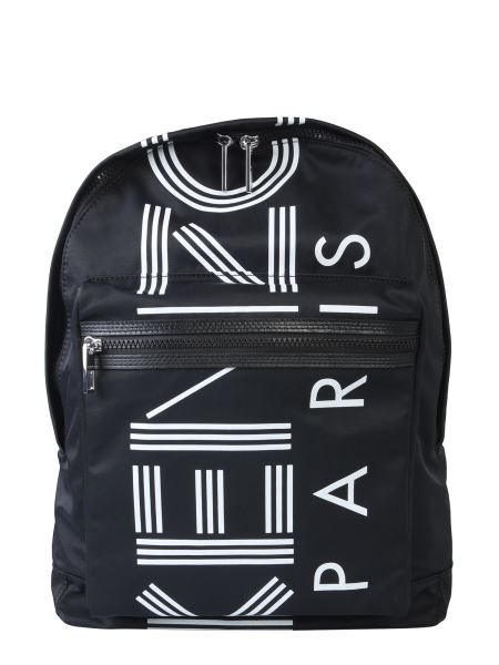 Kenzo - Large Kenzo Logo Backpack In Nylon