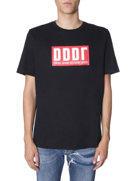 "Diesel - ""t-just-a9"" Round Neck Cotton T-shirt"