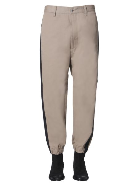 "Diesel - ""p-lev"" Cotton Trousers With Contrast Band"