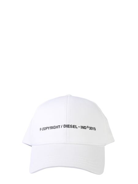 Diesel - Cotton Baseball Cap With Embroidered Copyright Logo