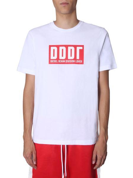 """Diesel - """"t-just-a9"""" Round Neck Cotton T-shirt"""