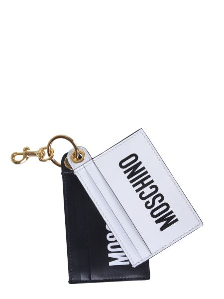 Moschino - Logo Printed Leather Card Holder