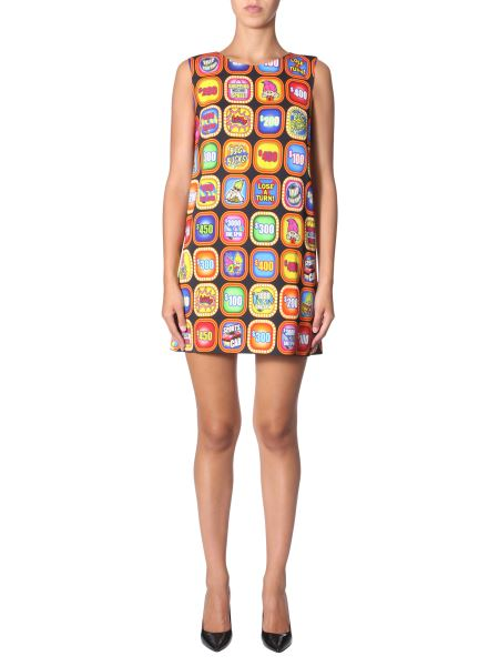 "Moschino - ""good Luck Trolls"" Printed Crew Neck Dress"