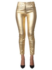 MOSCHINO - PANTALONE IN BULL GOLD