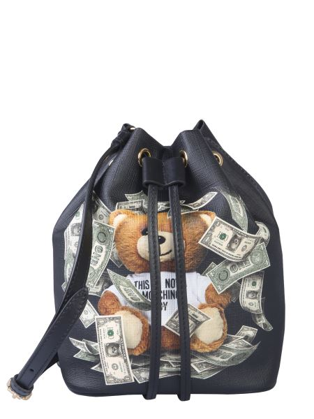 Moschino - Dollar Teddy Bear Nappa Bucket Bag