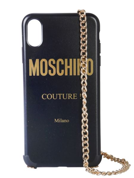 Moschino - Moschino Couture Iphone Xs Max Cover With Shoulder Strap