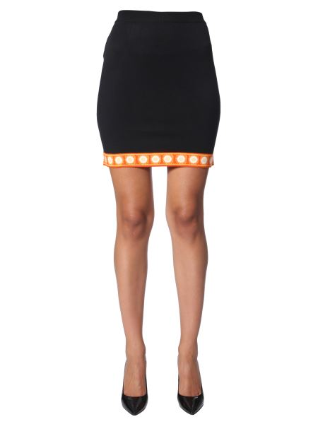 Moschino - Wool Knit Skirt With Fantasy Edge
