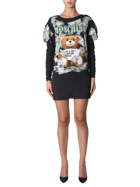 Moschino - Dollar Teddy Bear Dress With Enclosed Sleeve