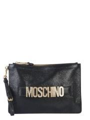 MOSCHINO - POCHETTE CON LOGO CRYSTAL