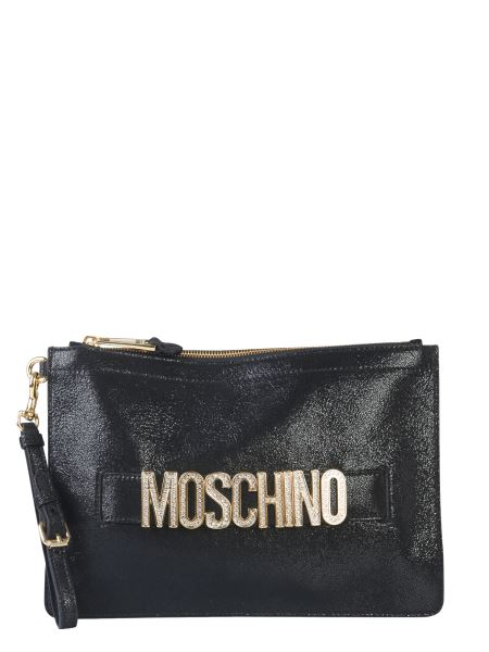 Moschino - Clutch With Crystal Logo