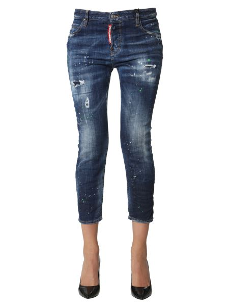 Dsquared - Cool Girl Cropped Medium Wash Denim Jeans