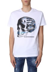 DSQUARED - T-SHIRT CON STAMPA TESCHIO