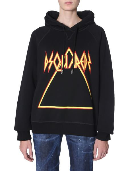 Dsquared - Hooded Cotton Sweatshirt With Logo Print