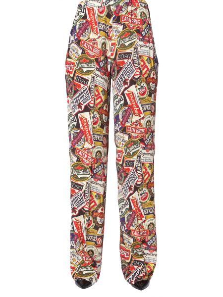 Dsquared - Mix Logo Print Wide Pants