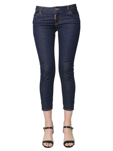 Dsquared - Jennifer Cropped Fit In Denim Stretch
