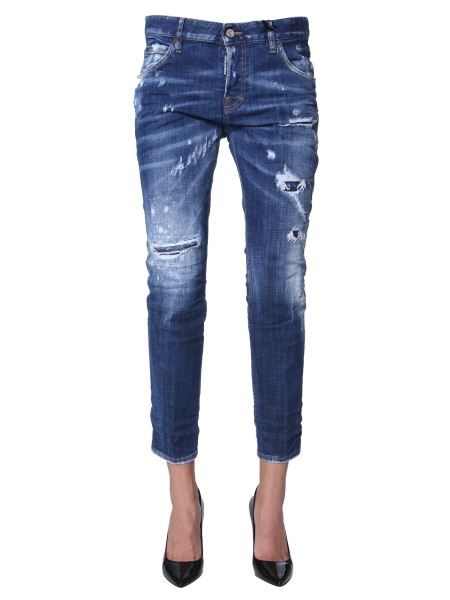 Dsquared - Medium Cool Girl Fit Holes Wash Jeans