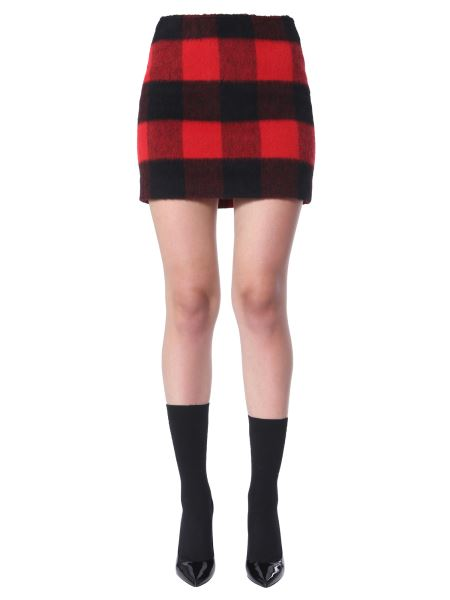 Dsquared - Tartan Mini Skirt In Mixed Wool