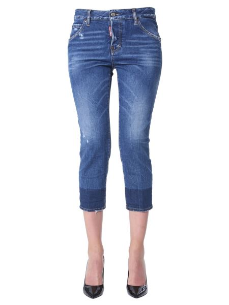 Dsquared - Cool Girl Cropped Jeans With Medium Clean Wash