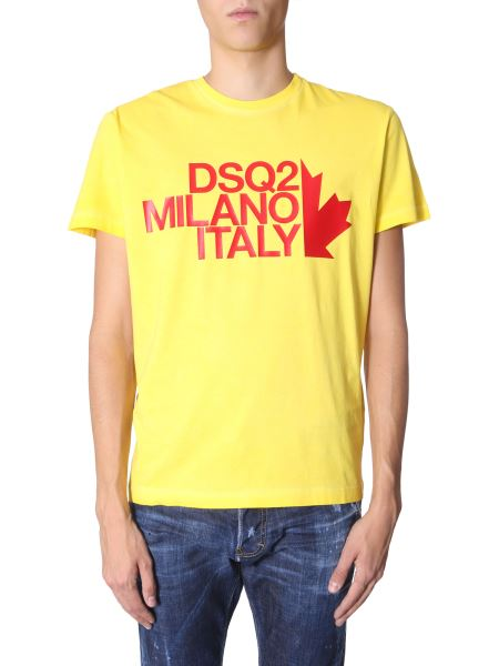 Dsquared - Round Neck Cotton T-shirt With Logo Print